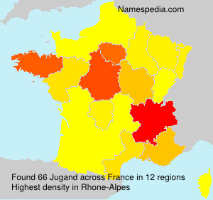Surname Jugand in France