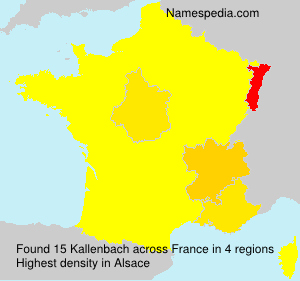 Surname Kallenbach in France