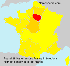 Surname Kanor in France