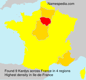 Surname Kardys in France