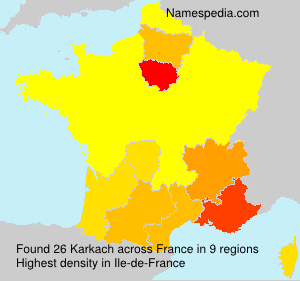 Surname Karkach in France