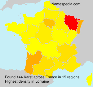 Surname Karst in France