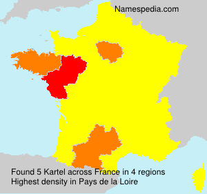 Surname Kartel in France