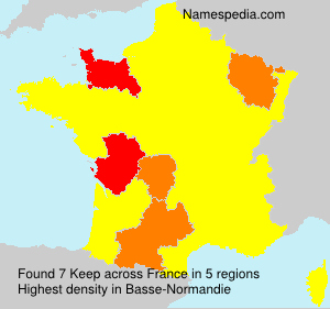 Surname Keep in France
