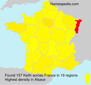 Surname Keith in France