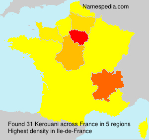 Surname Kerouani in France