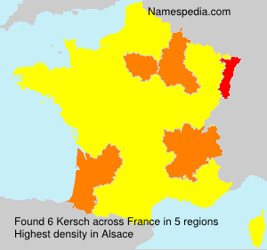 Surname Kersch in France
