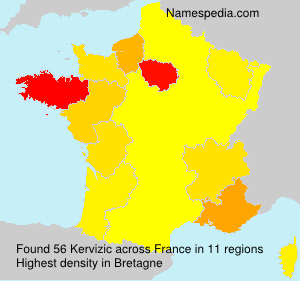 Surname Kervizic in France