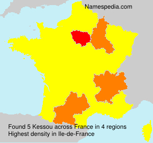 Surname Kessou in France