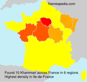 Surname Khammari in France