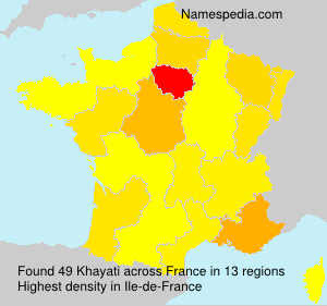 Surname Khayati in France
