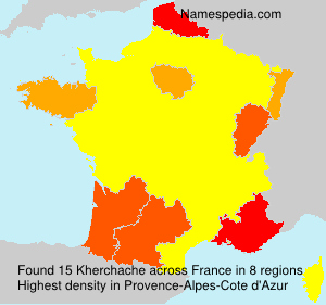 Surname Kherchache in France