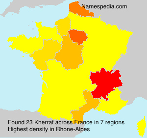 Surname Kherraf in France
