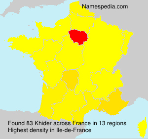 Surname Khider in France
