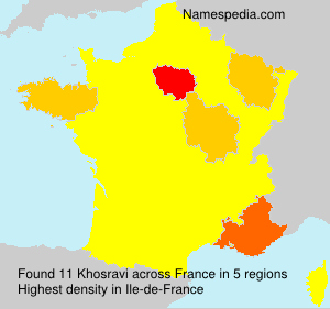Surname Khosravi in France