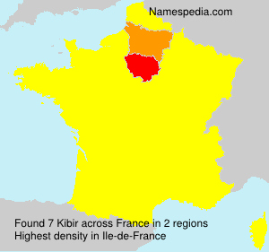 Surname Kibir in France