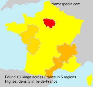 Surname Kinga in France
