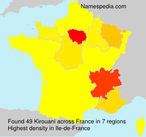 Surname Kirouani in France