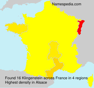 Surname Klingenstein in France