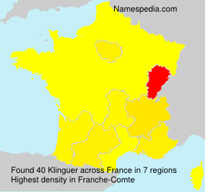 Surname Klinguer in France