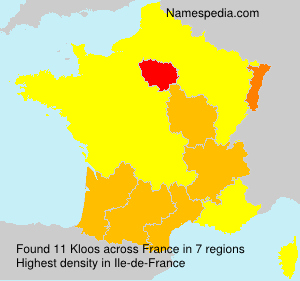 Surname Kloos in France