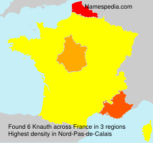 Surname Knauth in France