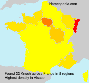 Surname Knoch in France