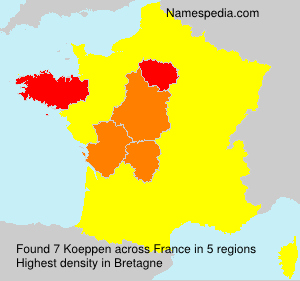 Surname Koeppen in France