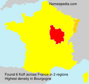 Surname Koff in France
