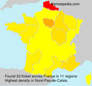 Surname Kokel in France