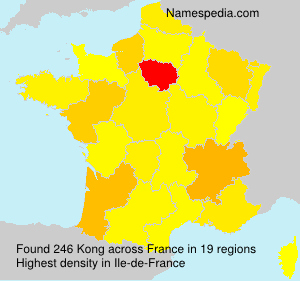 Surname Kong in France