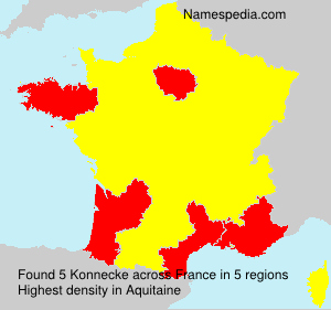 Surname Konnecke in France