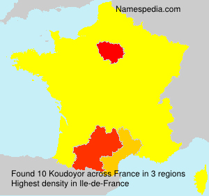 Surname Koudoyor in France