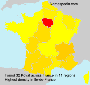 Surname Koval in France