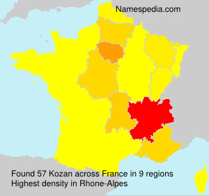 Surname Kozan in France