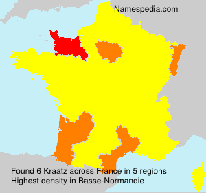 Surname Kraatz in France
