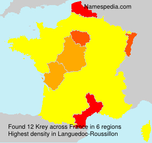 Surname Krey in France