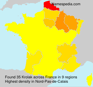 Surname Krolak in France