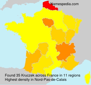 Surname Kruczek in France