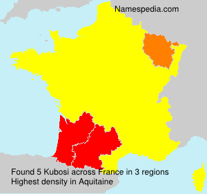Surname Kubosi in France