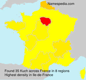 Surname Kuch in France