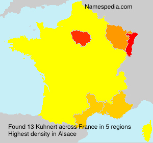 Surname Kuhnert in France