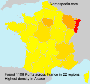 Surname Kuntz in France