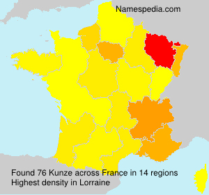 Surname Kunze in France