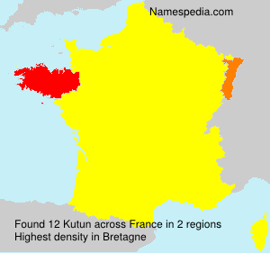 Surname Kutun in France