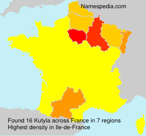 Surname Kutyla in France