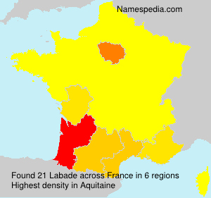Surname Labade in France