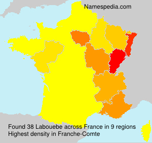 Surname Labouebe in France