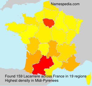 Surname Lacarriere in France