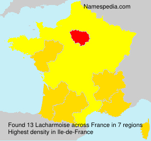 Surname Lacharmoise in France